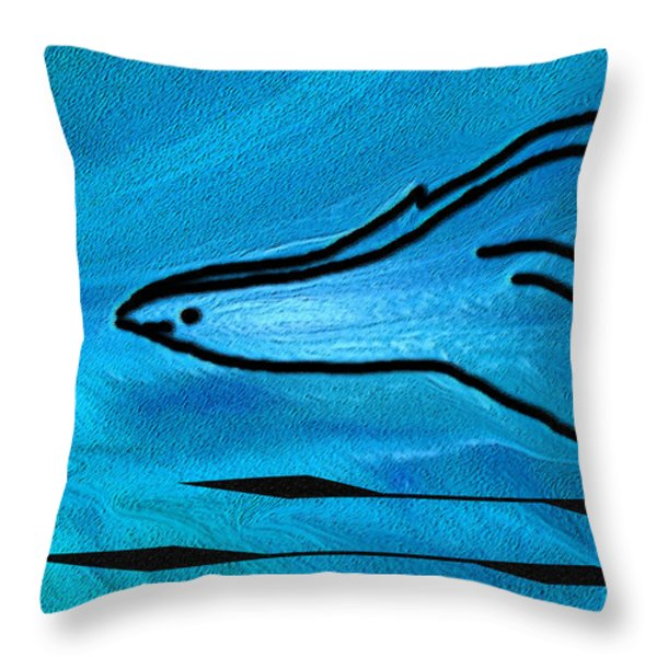 Deep Blue Throw Pillow by Ben and Raisa Gertsberg