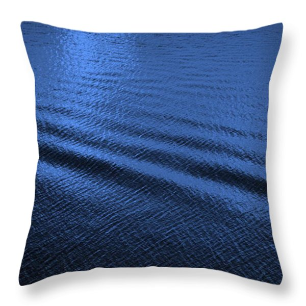 Deep Blue Sea Throw Pillow by Carol Groenen