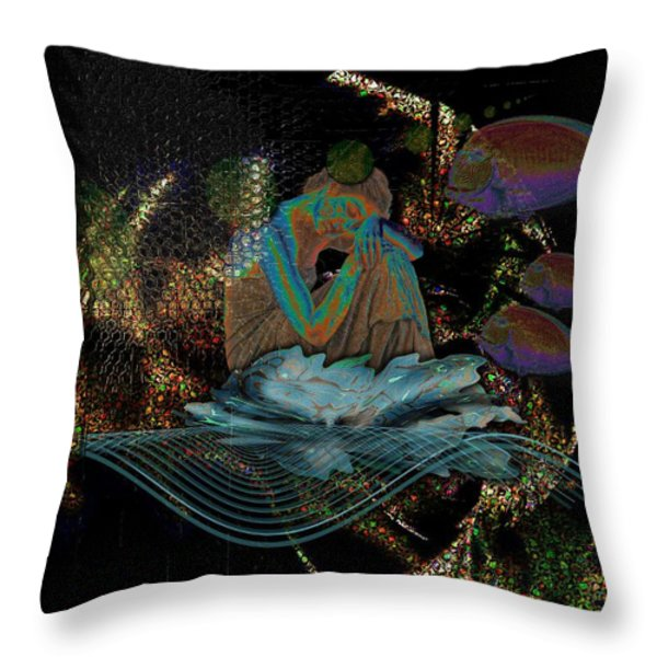 Deep Contemplation - Innere Einkehr Throw Pillow by Mimulux patricia no