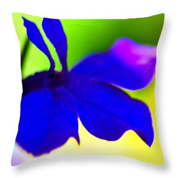 Deeply Blue Throw Pillow by Marie Jamieson