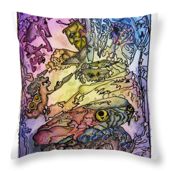 Deepsea Kritters Throw Pillow by Mimulux patricia no