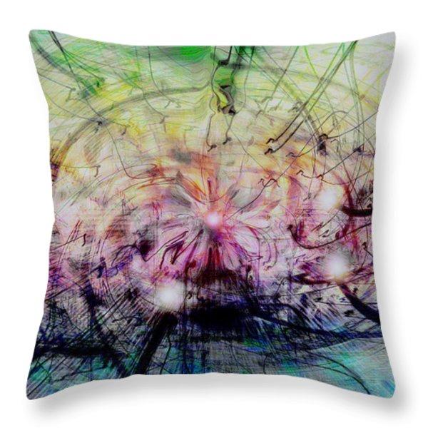 Deform To Form A Star Throw Pillow by Linda Sannuti