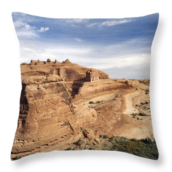 Delicate Arch Viewpoint - D004091 Throw Pillow by Daniel Dempster