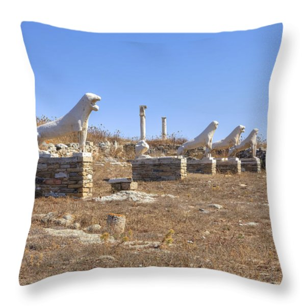 Delos Throw Pillow by Joana Kruse