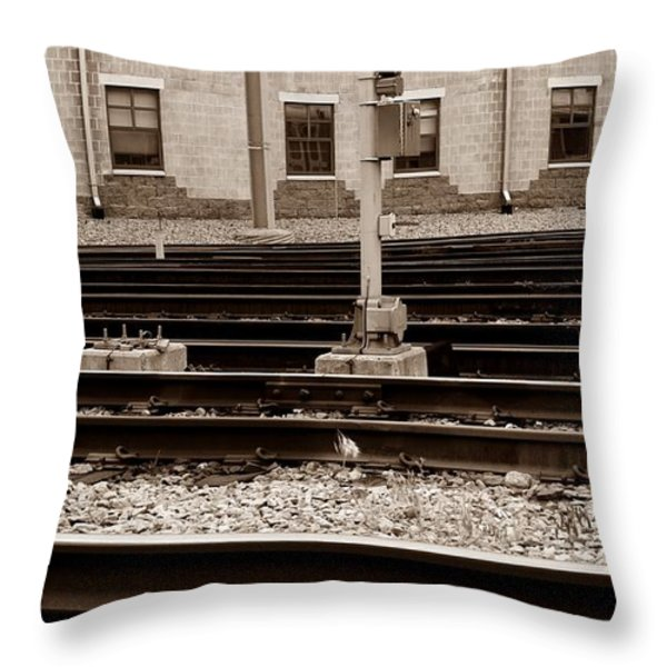 Depot Throw Pillow by Luke Moore