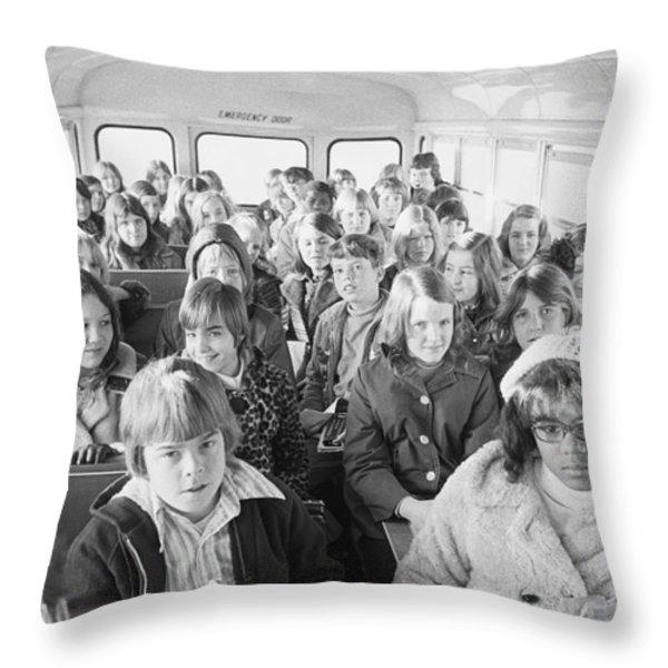 Desegregation: Busing, 1973 Throw Pillow by Granger