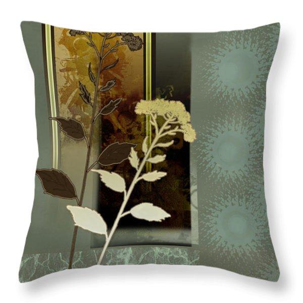 Desert Flowers Throw Pillow by Gina Femrite