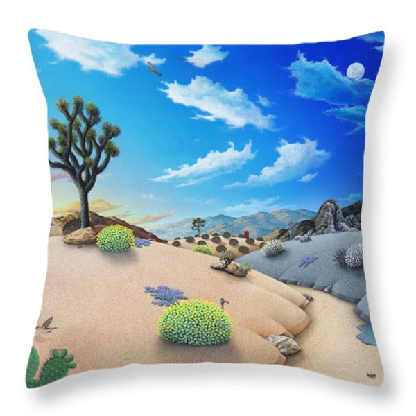Desert Timeline Throw Pillow by Snake Jagger
