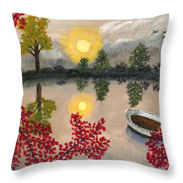 Deserted Throw Pillow by Susan Schmitz