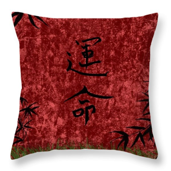 Destiny Throw Pillow by Rhonda Barrett