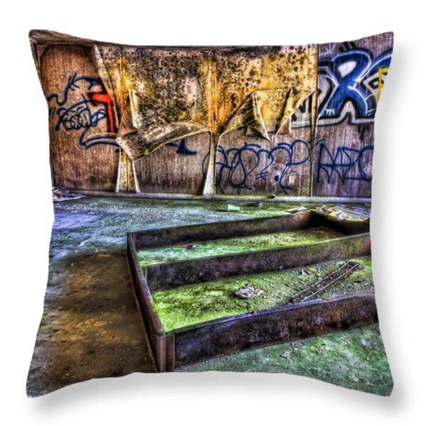 Destroya Throw Pillow by Evelina Kremsdorf