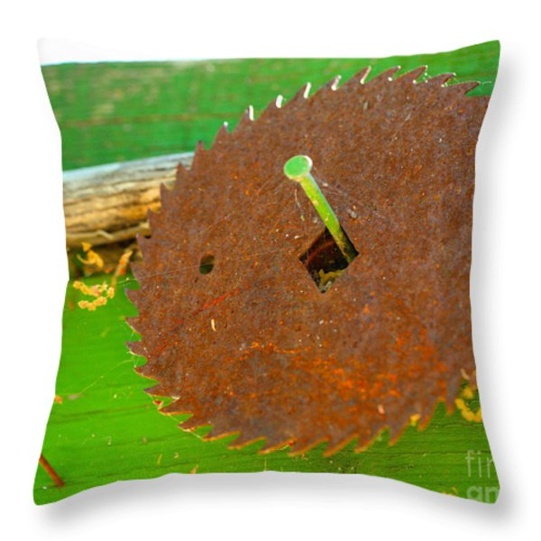 Diamond on a nail Throw Pillow by Cheryl Young