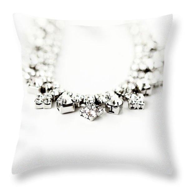 Diamonds Throw Pillow by Stephanie Frey