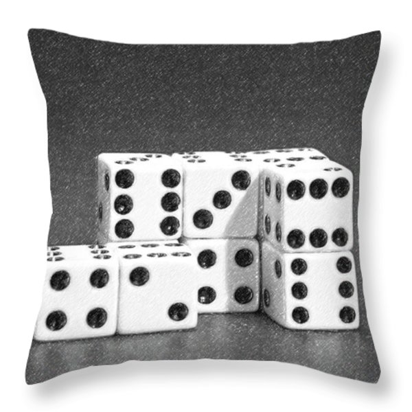 Dice Cubes II Throw Pillow by Tom Mc Nemar
