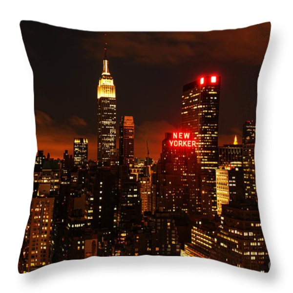 Digital Sunset Throw Pillow by Andrew Paranavitana