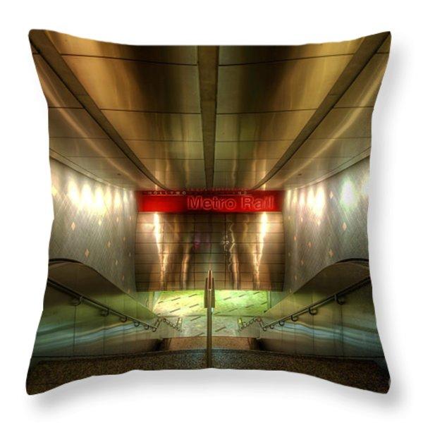 Digital Underground Throw Pillow by Yhun Suarez
