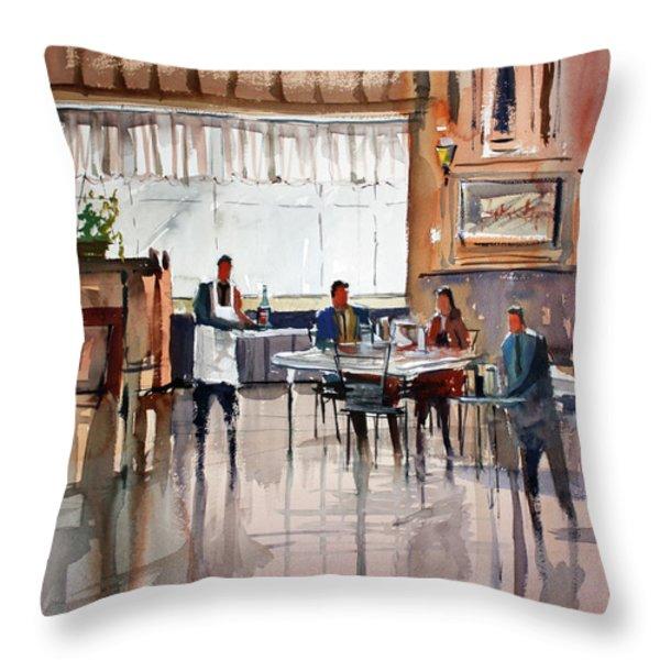 Dinner For Two Throw Pillow by Ryan Radke