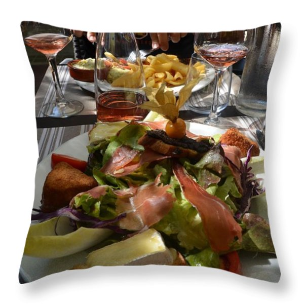 Dinner is served Throw Pillow by Dany  Lison