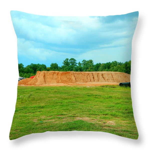 Dirt Hill Throw Pillow by Ester  Rogers