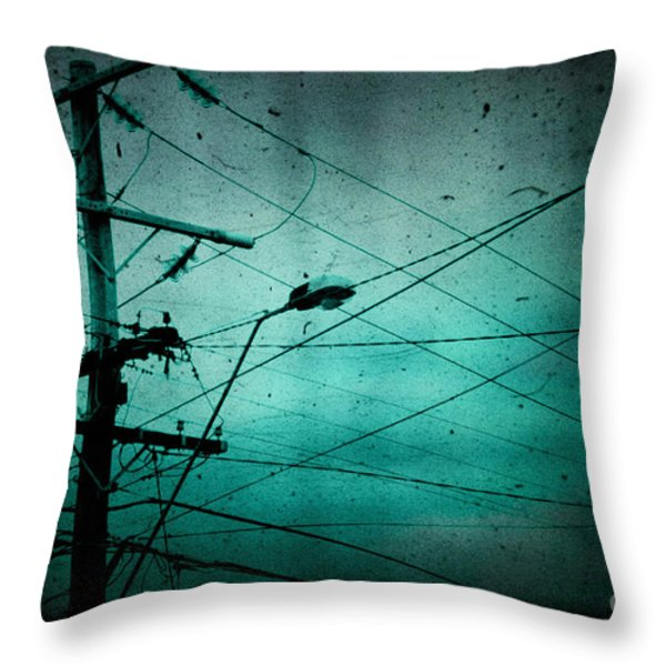 Disconnection Throw Pillow by Andrew Paranavitana