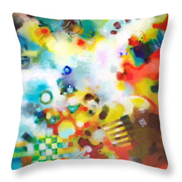 Dissolving Obstacles Throw Pillow by Sally Trace