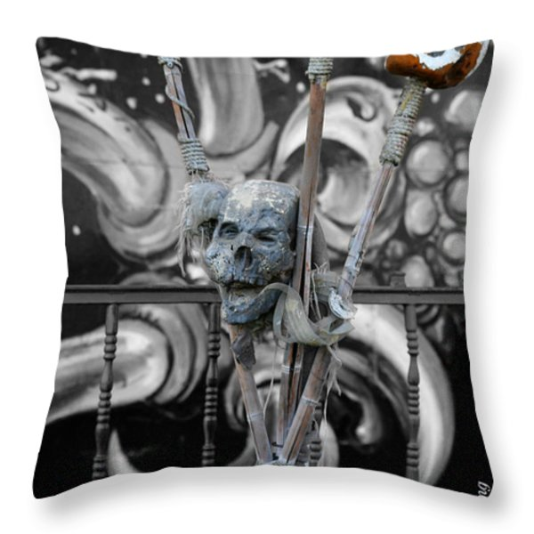 Disturbing Throw Pillow by Cheryl Young