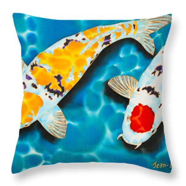Ditsu Koi Throw Pillow by Daniel Jean-Baptiste