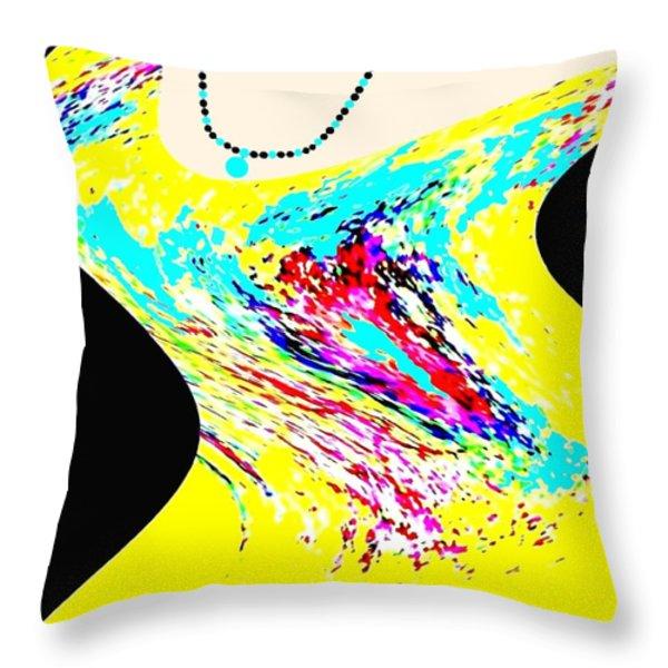 Diva Throw Pillow by Will Borden
