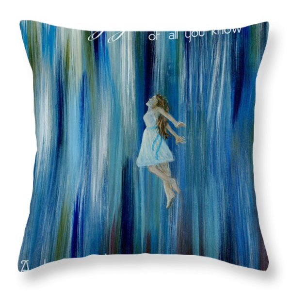 Divine Flow Throw Pillow by The Art With A Heart By Charlotte Phillips