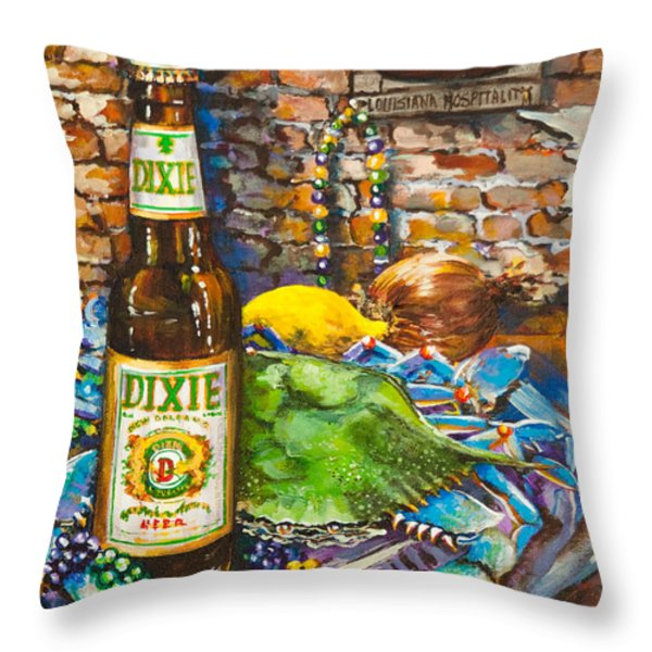 Dixie Love Throw Pillow by Dianne Parks