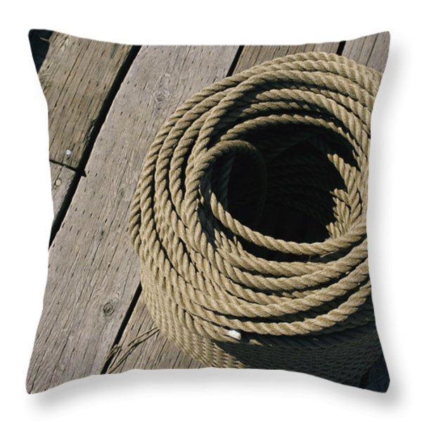 Docks At Lunenburg, Nova Scotia, Canada Throw Pillow by Michael S. Lewis