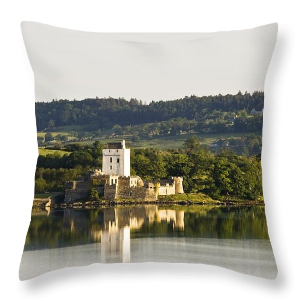 Doe Castle, County Donegal, Ireland Throw Pillow by Peter McCabe
