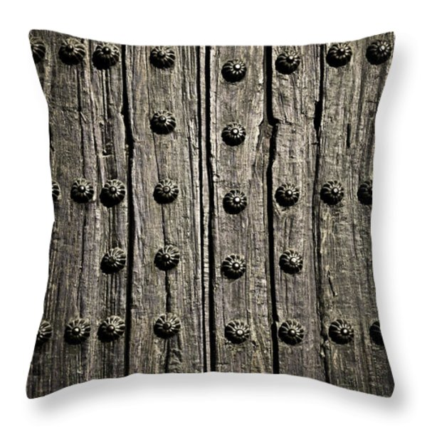 Door detail Throw Pillow by Elena Elisseeva