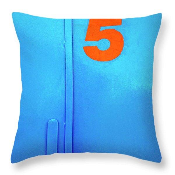 Door Five Throw Pillow by Carlos Caetano