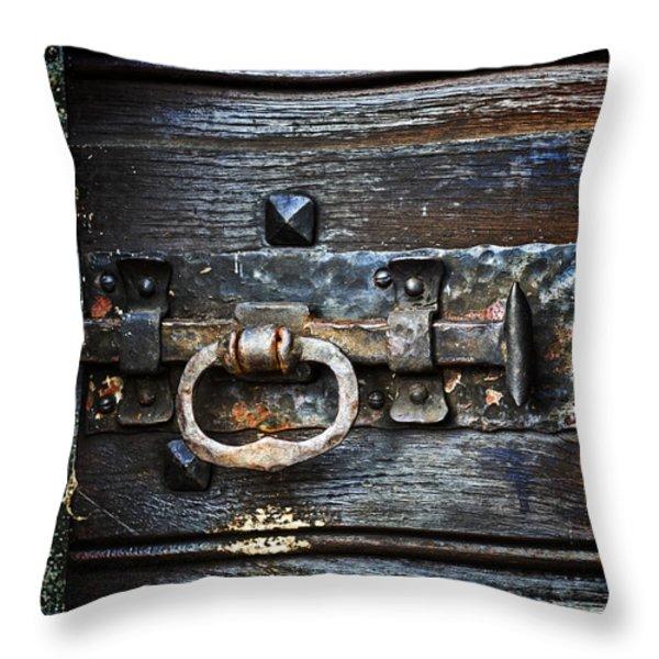 door latch Throw Pillow by Joana Kruse
