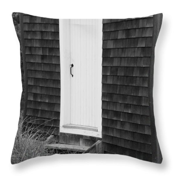 Doorway by the Sea Cape Cod National Seashore Throw Pillow by Michelle Wiarda