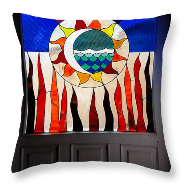 Doorway Of Choice Throw Pillow by Al Bourassa