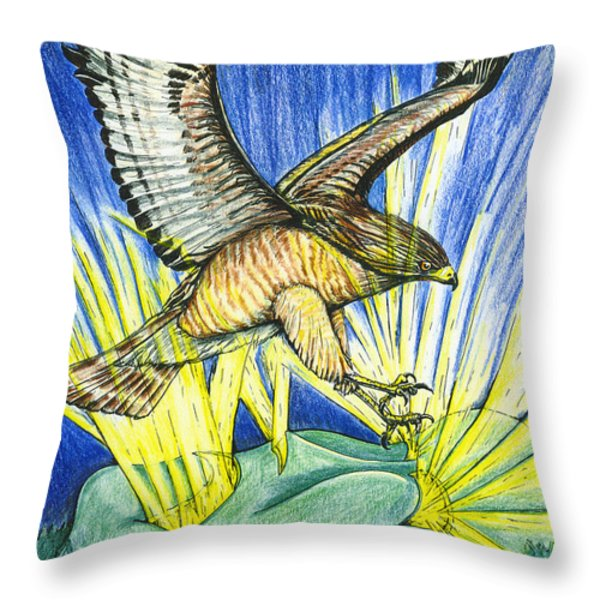 Dorothy's Totem Throw Pillow by Laura Brightwood