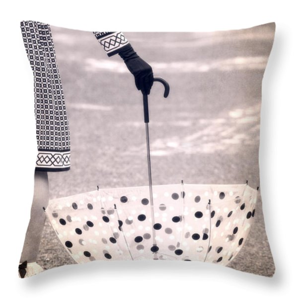 Dotted Throw Pillow by Joana Kruse