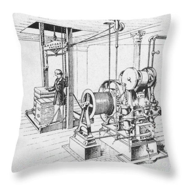 Double Oscillating Steam Engine Throw Pillow by Science Source