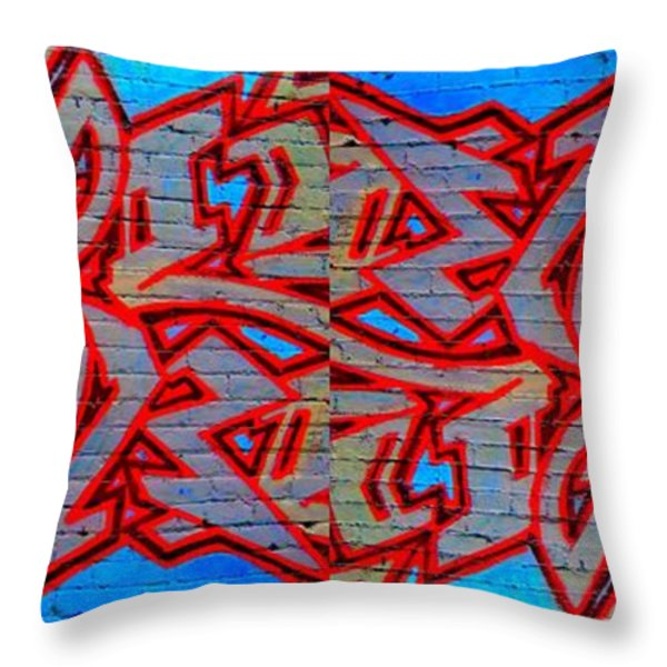 Double Trouble Throw Pillow by Randall Weidner