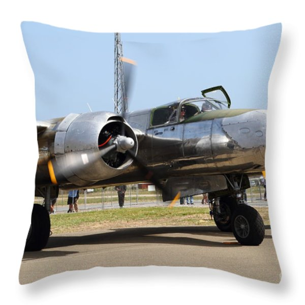 Douglas A26B Military Aircraft 7d15748 Throw Pillow by Wingsdomain Art and Photography