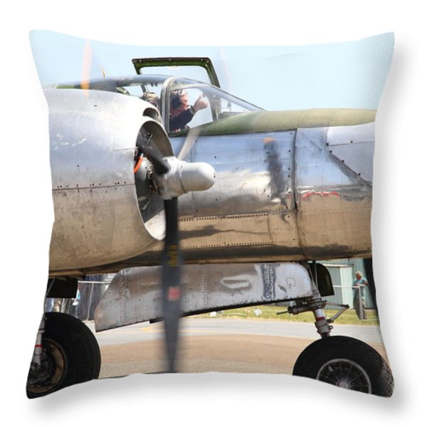 Douglas A26B Military Aircraft 7d15763 Throw Pillow by Wingsdomain Art and Photography