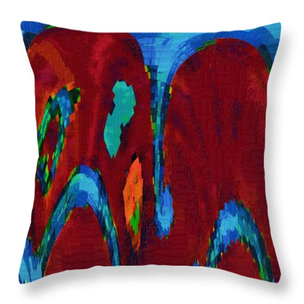 Down On My Knees Throw Pillow by Alec Drake