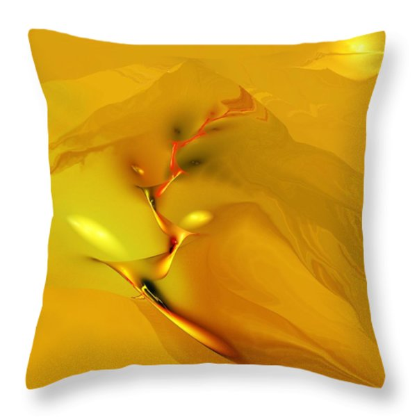 Downhill Racer Throw Pillow by David Lane