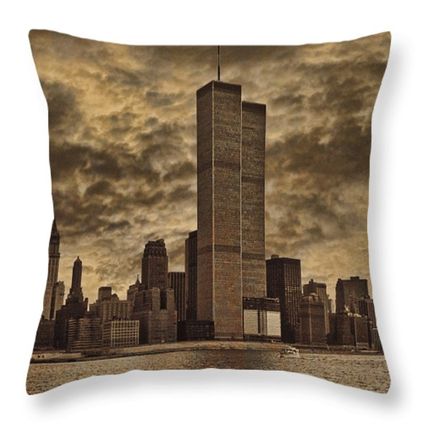 Downtown Manhattan Circa Nineteen Seventy Nine  Throw Pillow by Chris Lord