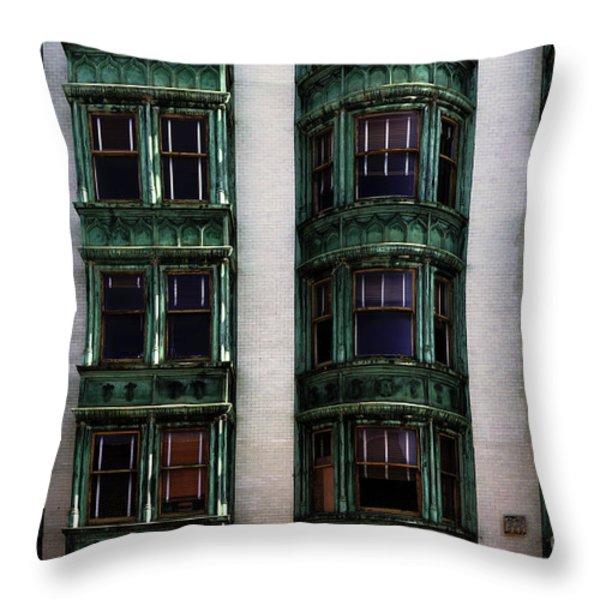 Downtown San Francisco Throw Pillow by Bob Christopher