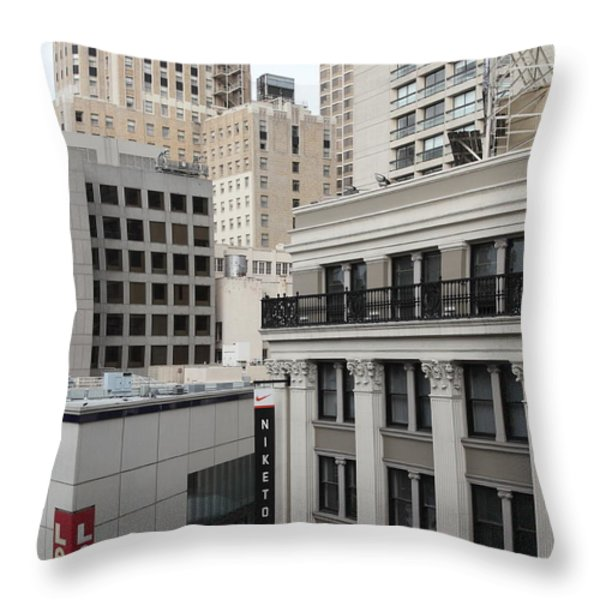 Downtown San Francisco Buildings - 5D19323 Throw Pillow by Wingsdomain Art and Photography
