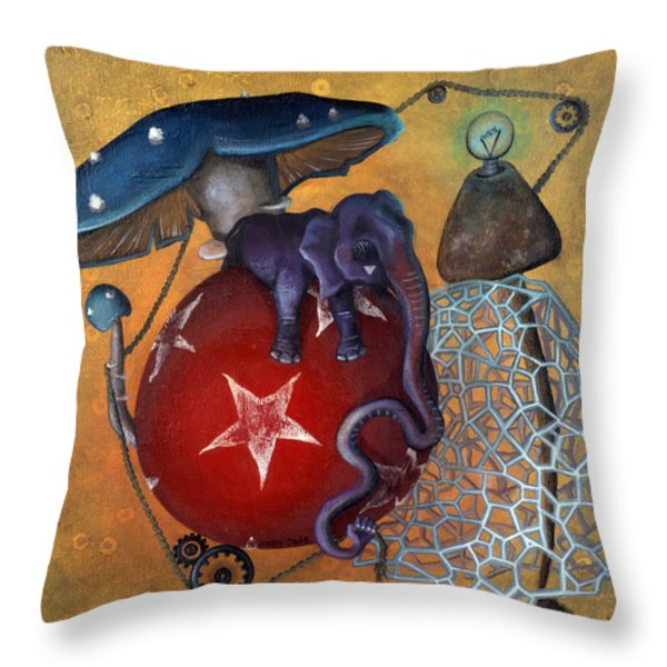 Dow's Newest Best Trick Throw Pillow by Kelly Jade King