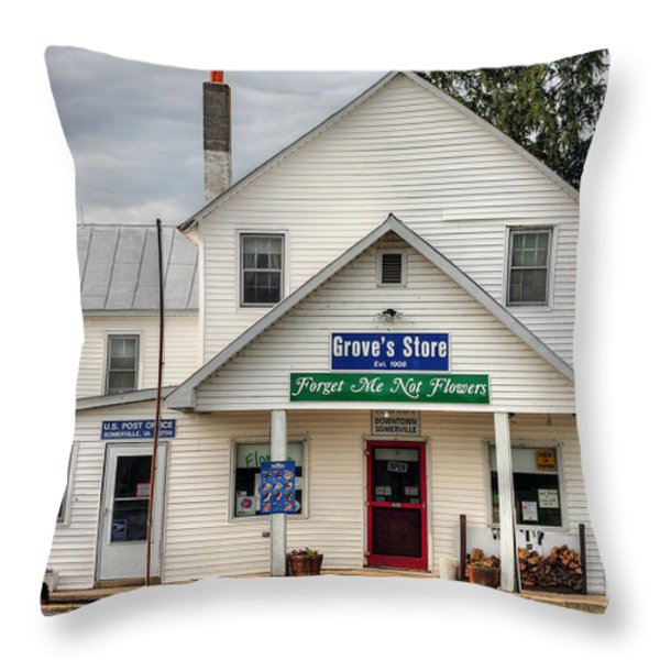 Dowtown Somerville Throw Pillow by JC Findley